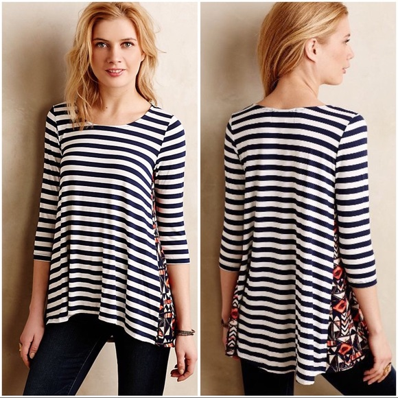 4b58596d306 Anthropologie Tops - Anthropologie Puella Pattern Play Swing Tunic